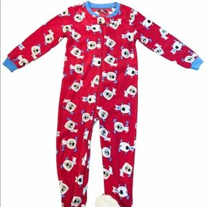 ✨3 for $30✨3T Boys Fleece Footed Onesie Pajamas